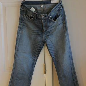 Rag & Bone Skinny Crop Open Hem Jeans size 30